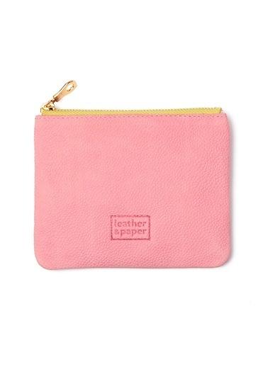 Leather & Paper Deri Mini Çanta Pembe